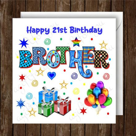 Happy Birthday Brother Greeting Card
